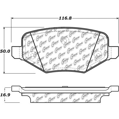 Posi Quiet Extended Wear Brake Pads with Shims and Hardware , Posi Quiet 106.13770