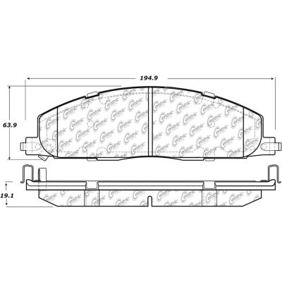 Posi Quiet Extended Wear Brake Pads with Shims and Hardware , Posi Quiet 106.14000