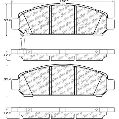 Posi Quiet Extended Wear Brake Pads with Shims and Hardware , Posi Quiet 106.14010