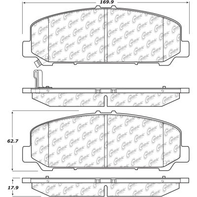 Posi Quiet Extended Wear Brake Pads with Shims and Hardware , Posi Quiet 106.15090