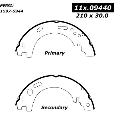 Centric Premium Parking Brake Shoes, Centric Parts 111.09440