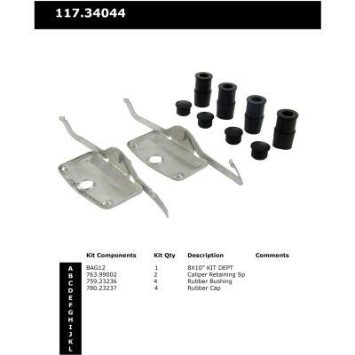 Centric Disc Brake Hardware Kit, Centric Parts 117.34044