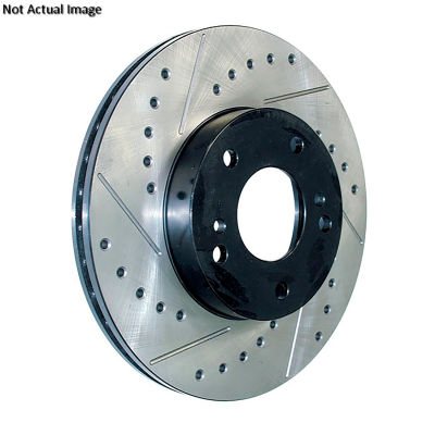 StopTech Sport Drilled/Slotted Brake Rotor; Front Left, StopTech 127.65116L