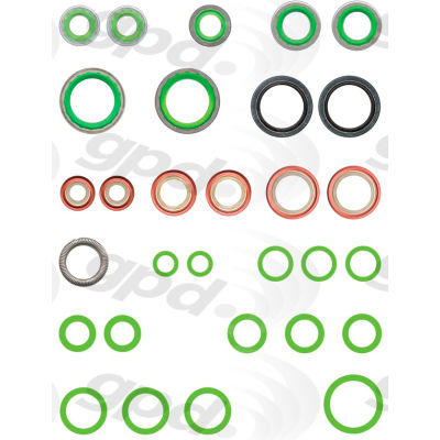 A/C System O-Ring and Gasket Kit, Global Parts 1321376