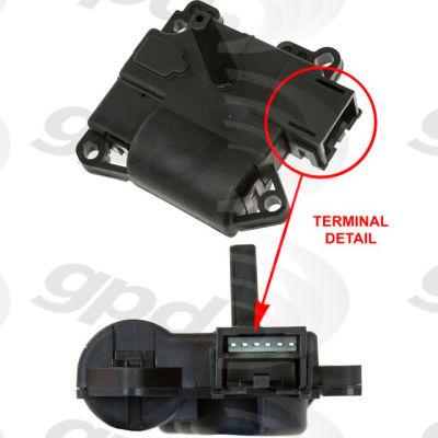 HVAC Blend Door Actuator, Global Parts 1711914