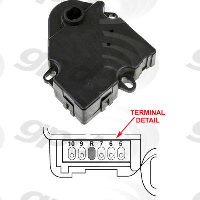 HVAC Blend Door Actuator, Global Parts 1712062
