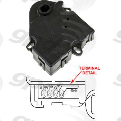 HVAC Blend Door Actuator, Global Parts 1712066