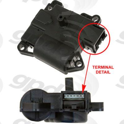 HVAC Blend Door Actuator, Global Parts 1712269
