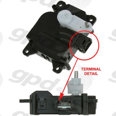 HVAC Blend Door Actuator, Global Parts 1712290