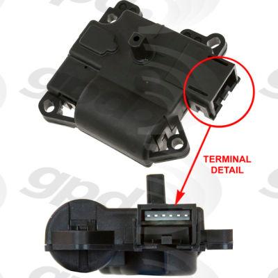 HVAC Blend Door Actuator, Global Parts 1712301