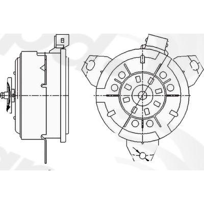 Engine Cooling Fan Motor, Global Parts 631100