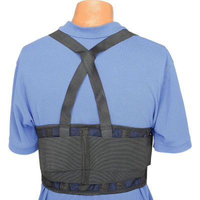"Standard Back Support Belt, Adjustable Suspenders, Small, 28-32"" Waist Size"