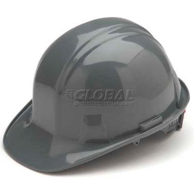 Gray Cap Style 4 Point Ratchet Suspension Hard Hat - Pkg Qty 16