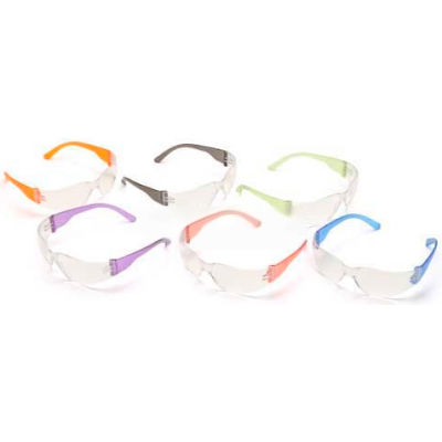 Intruder™ Eyewear Multi-Pack Clear Lens, Assorted Temple Colors, 12 Pairs/Dozen