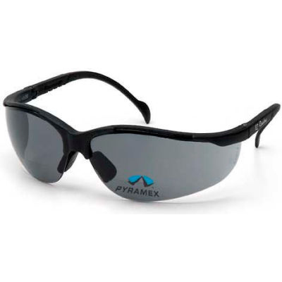 V2 Readers® Eyewear Gray +2.0 Lens , Black Frame - Pkg Qty 6