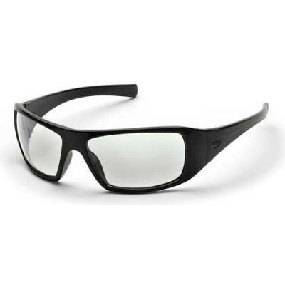Goliath™ Eyewear Clear Lens , Black Frame - Pkg Qty 12