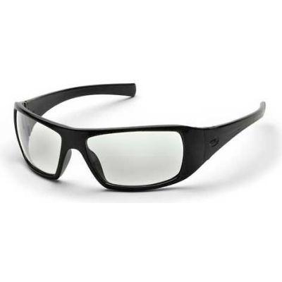 Goliath™ Eyewear Clear Lens , Black Frame - Pkg Qty 12