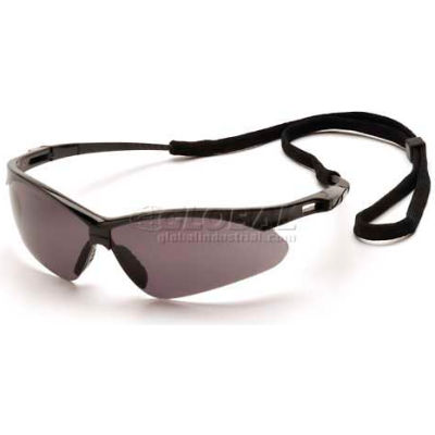Pmxtreme™ Eyewear Gray Anti-Fog Lens , Black Frame & Cord