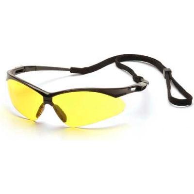 Pmxtreme™ Eyewear Amber Lens , Black Frame & Cord