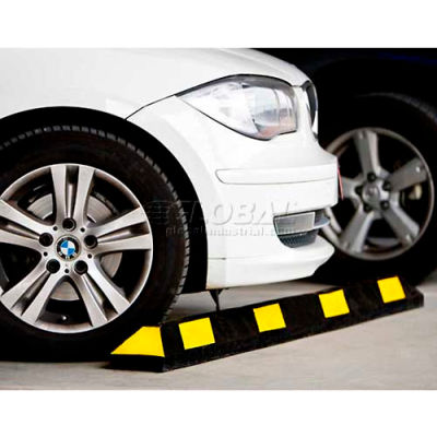 "GNR® Park It® Black with Yellow Stripes Parking Curb - 36""L"