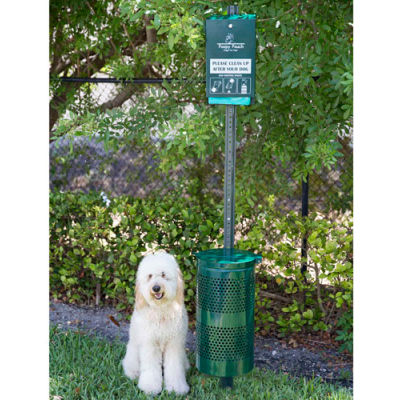 Poopy Pouch Steel Pet Waste Station with Header Bags, Regal
