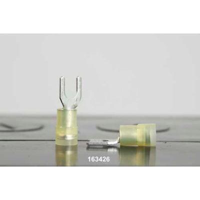 Quick Cable 163426-1000 Premium Nylon Solderless Spade Double Crimp, 12-10 Gauge, 1,000 Ft