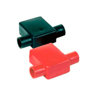 Quick Cable 5725-025B Black Flag Clamp Terminal Protectors, 1 & 2 Gauge, 25 Pcs