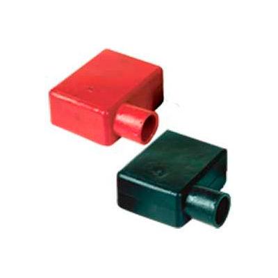 Quick Cable 5728-050R Left Elbow Terminal Protectors, Red, 50 Pcs
