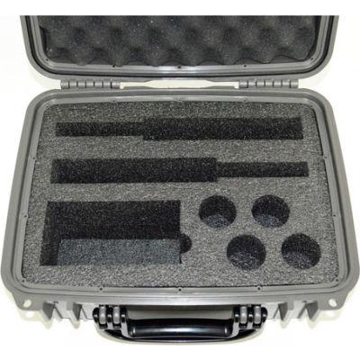 "Quick Fire Multifit™ Dual Revolver Case QF500GR Watertight, 15-5/16""x12-1/8""x6-11/16"" Gray"