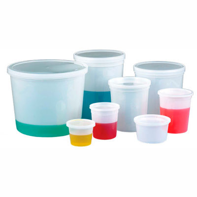 Qorpak 235293 16oz (480ml) Translucent HDPE Storage Containers with Snap-On Lids, Case of 100