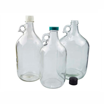 Qorpak GLA-00837 64oz (1,920ml) Clear Glass Jug Only, 38-400 Neck Finish, Case of 6