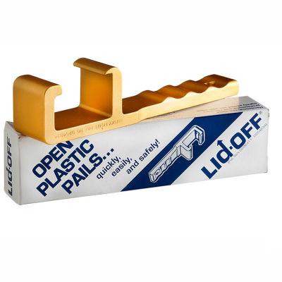 Qorpak MET-08918 Heavy Duty Anodized Gold Lid-Off Plastic Pail Opener