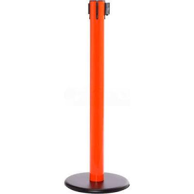 "Orange Post Safety Barrier, 16 Ft., Red/White Belt ""NO ENTRY"""