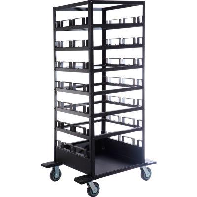 Horizontal Stanchion Storage Cart, 21 Post Capacity