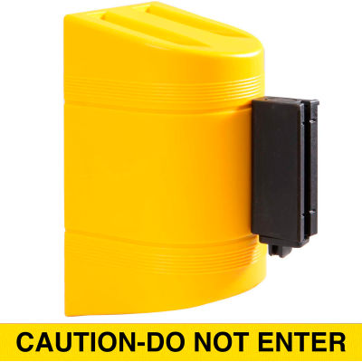 WallPro 300 Yellow Wall Mount Retracting Barrier, 10' Yellow/Black CAUTION-DO NOT ENTER Belt