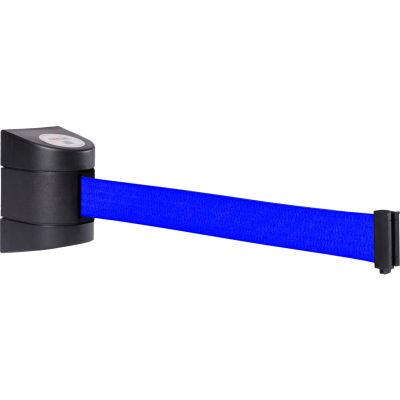 WallPro 400 Black Wall Mount Retracting Barrier, 15' Blue Belt