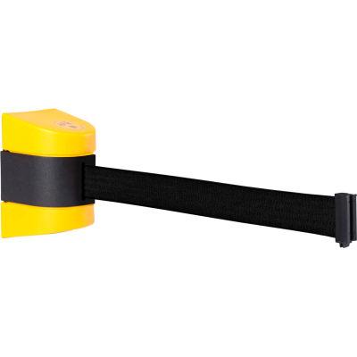 WallPro 450 Yellow Wall Mount Retracting Barrier, 20' Black Belt