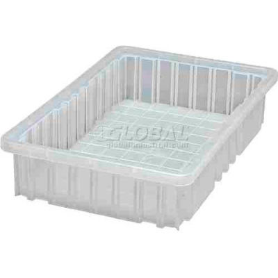 Global Industrial™ Clear-View Dividable Grid Container DG92035CL - 16-1/2 x 10-7/8 x 3-1/2 - Pkg Qty 12