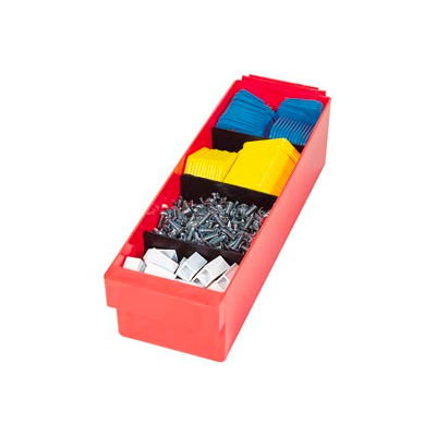 """Quantum Dividers DIV801 for Euro Drawer 11-1/8""""W, Black, Price Per Pack of 4 - Pkg Qty 2"""