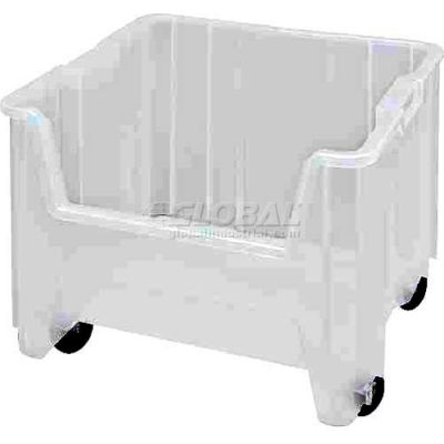 "Quantum Mobile Heavy Duty Giant Stacking Bin, 16-1/2""W x 17-1/2""D x 16""H, Clear - Pkg Qty 2"