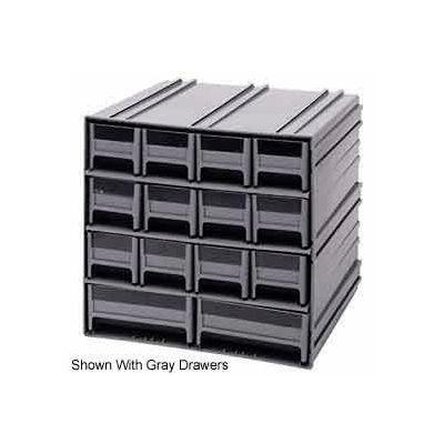 "Quantum Interlocking Storage Cabinet QIC-12123 - 11-3/4""Wx11-3/8""Dx11""H - 14 Blue Drawers"