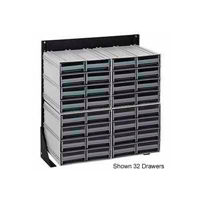 "Quantum QIC-124-122 24""H Single Sided Floor Stand with 48 Gray Drawer Interlocking Storage Cabinet"