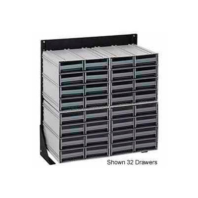 """Quantum QIC-124-64 24""""H Single Sided Floor Stand with 24 Gray Drawer Interlocking Storage Cabinet"""