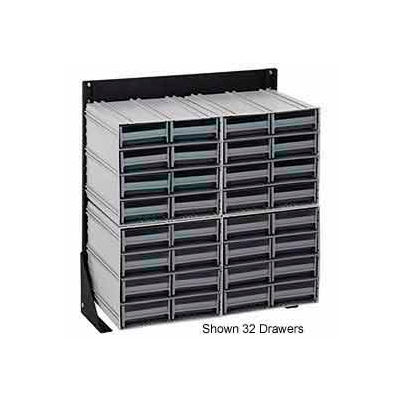 """Quantum QIC-124-83 24""""H Single Sided Floor Stand with 32 Gray Drawer Interlocking Storage Cabinet"""