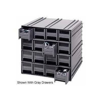 "Quantum Interlocking Storage Cabinet QIC-161 - 11-3/4""Wx11-3/8""Dx11""H - 16 Blue Drawers"
