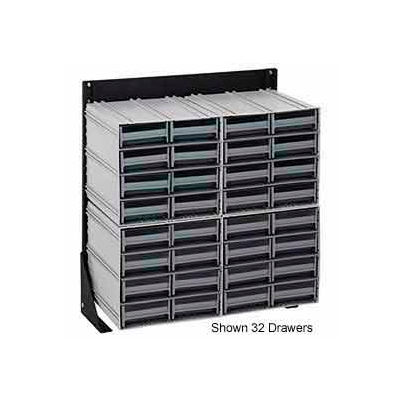 """Quantum QIC-170-64 70""""H Single Sided Floor Stand with 72 Gray Drawer Interlocking Storage Cabinet"""
