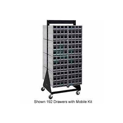 """Quantum QIC-224-83 24""""H Double Sided Floor Stand with 64 Gray Drawer Interlocking Storage Cabinet"""