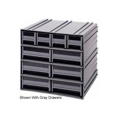 "Quantum Interlocking Storage Cabinet QIC-4163 - 11-3/4""Wx11-3/8""Dx11""H - 10 Blue Drawers"