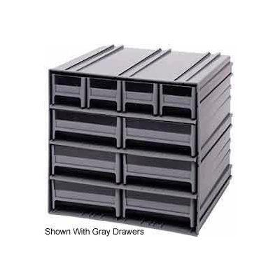 "Quantum Interlocking Storage Cabinet QIC-4163 - 11-3/4""Wx11-3/8""Dx11""H - 10 Red Drawers"