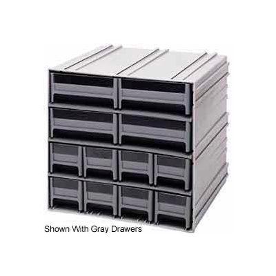 "Quantum Interlocking Storage Cabinet QIC-8143 - 11-3/4""Wx11-3/8""Dx11""H - 12 Red Drawers"